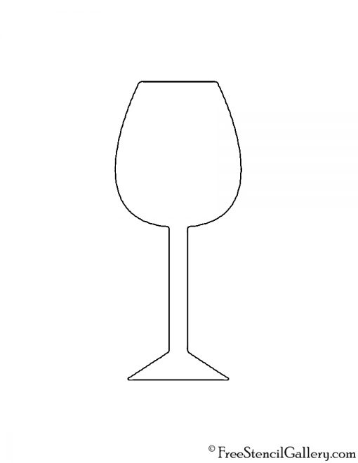 Wine Glass Stencil