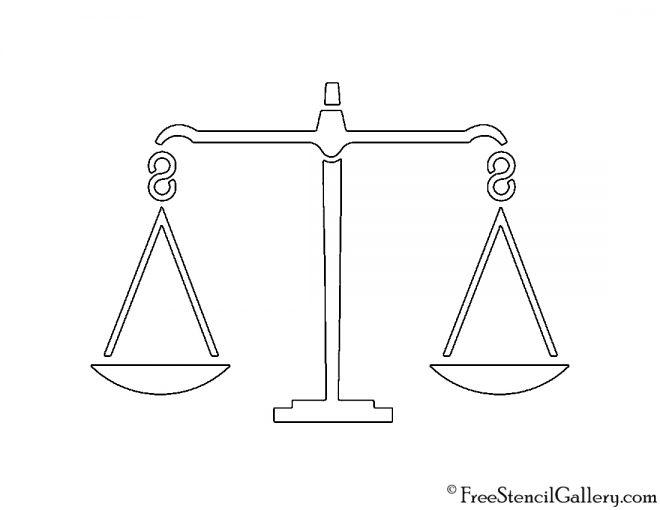 Balance Scale Stencil