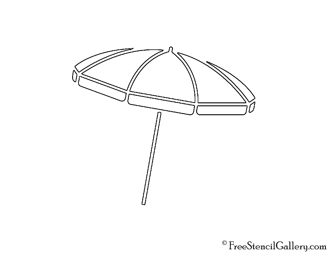 picture relating to Free Printable Beach Stencils named Beach front Umbrella Stencil Cost-free Stencil Gallery
