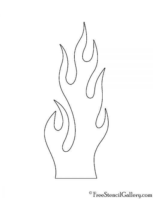 Flames 03 Stencil