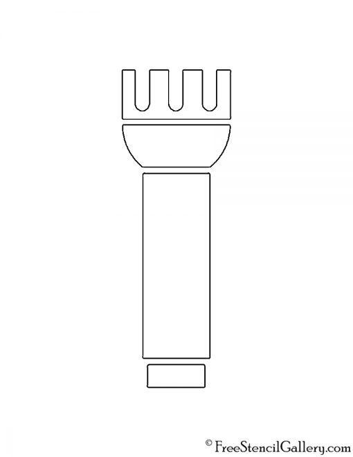 Flashlight Stencil