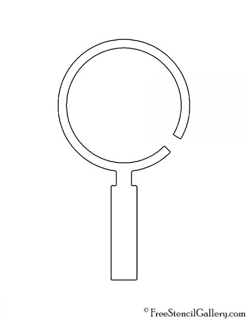 Magnifying Glass Stencil