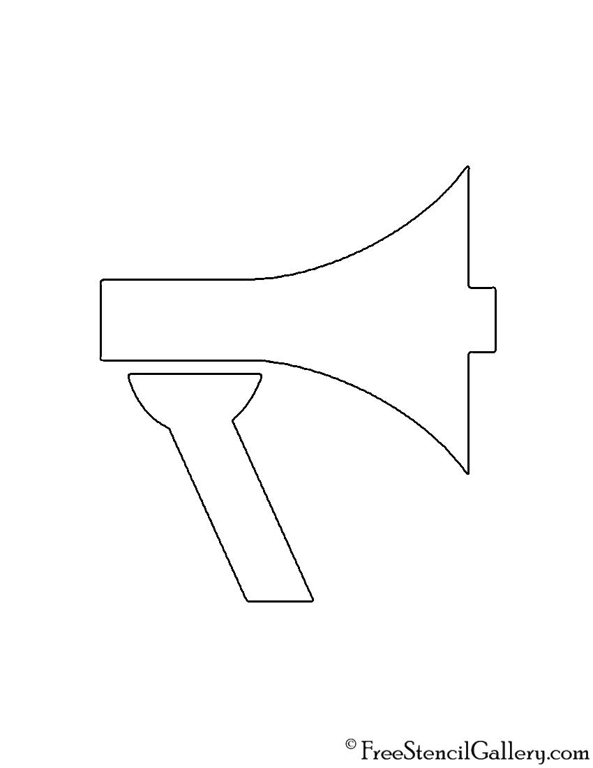 Megaphone Stencil