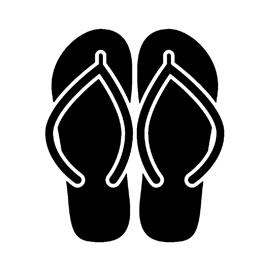Sandals Stencil