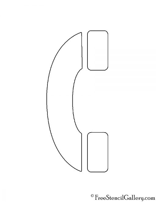Telephone Symbol Stencil