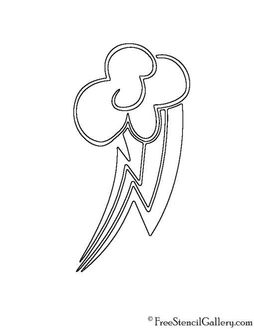 My Little Pony - Rainbow Dash Cutie Mark Stencil