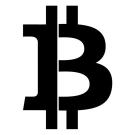 Bitcoin Symbol Stencil