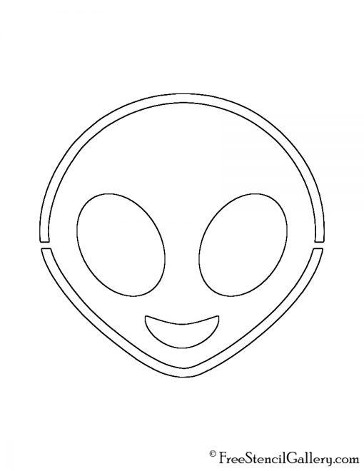 Emoji - Alien Stencil