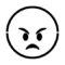 Emoji - Angry Stencil