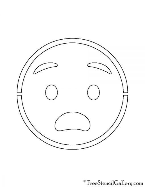 Emoji - Anguished Stencil