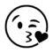 Emoji - Blow Kiss Stencil