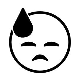 Emoji – Cold Sweat 02 Stencil