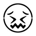 Emoji - Confounded Stencil