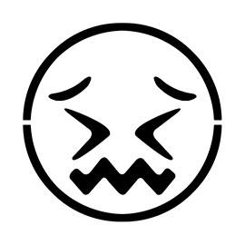 Emoji – Confounded Stencil