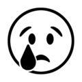Emoji - Crying Face Stencil