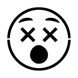 Emoji – Dizzy 02 Stencil