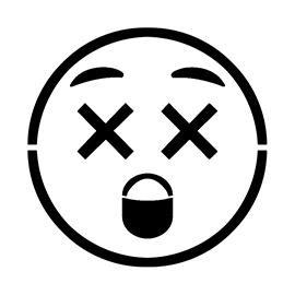Emoji – Dizzy Stencil
