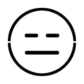 Emoji – Expressionless Stencil