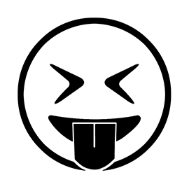 Emoji – Eyes Closed Tongue Out Stencil