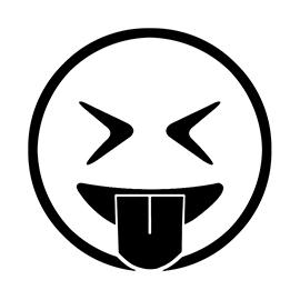 Emoji – Eyes Closed Tongue Out Stencil