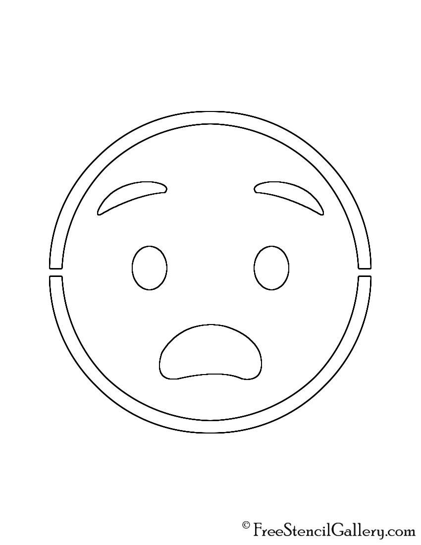 Emoji - Fearful Stencil