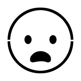 Emoji – Frowning Stencil
