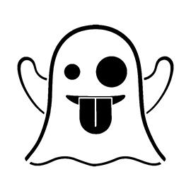 Emoji – Ghost Stencil