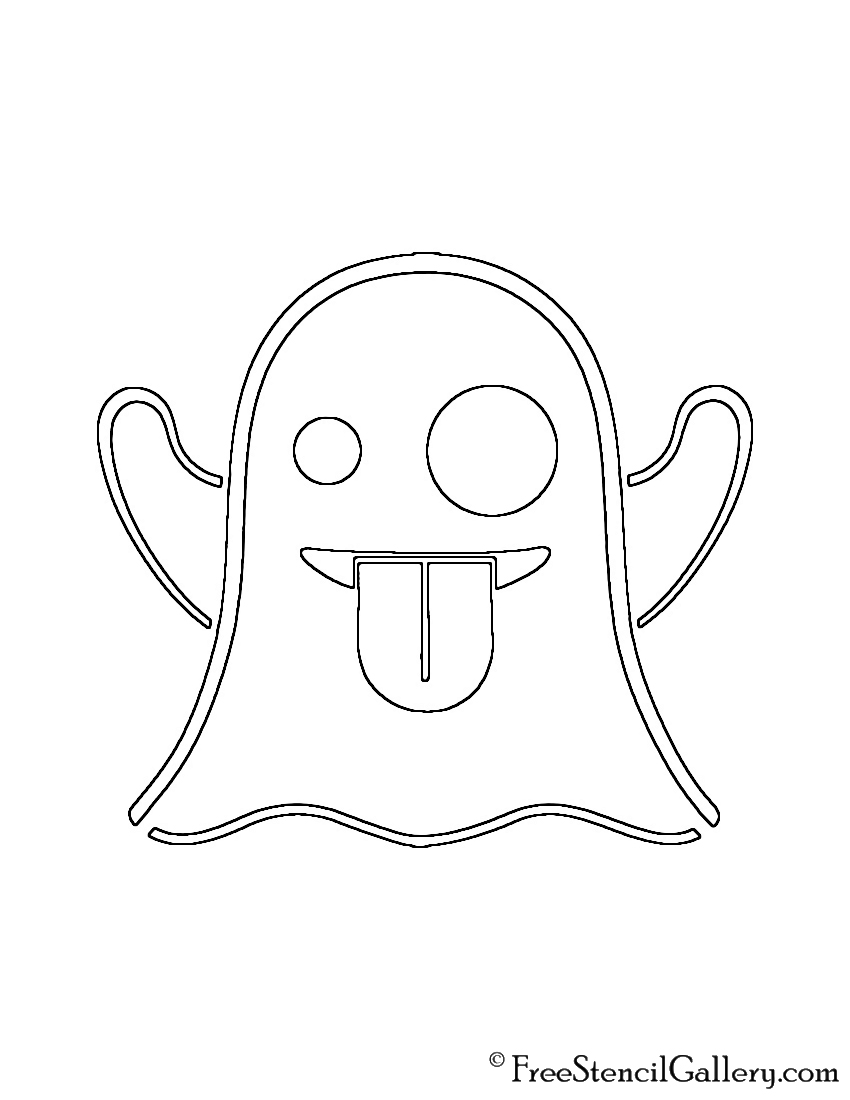 Line Drawing Emoji : Emoji ghost stencil free gallery