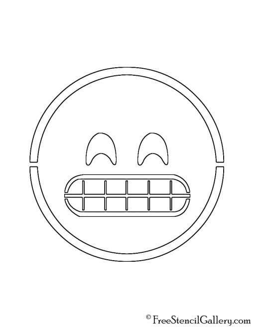 Emoji - Grinning Stencil