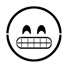 Emoji – Grinning Stencil