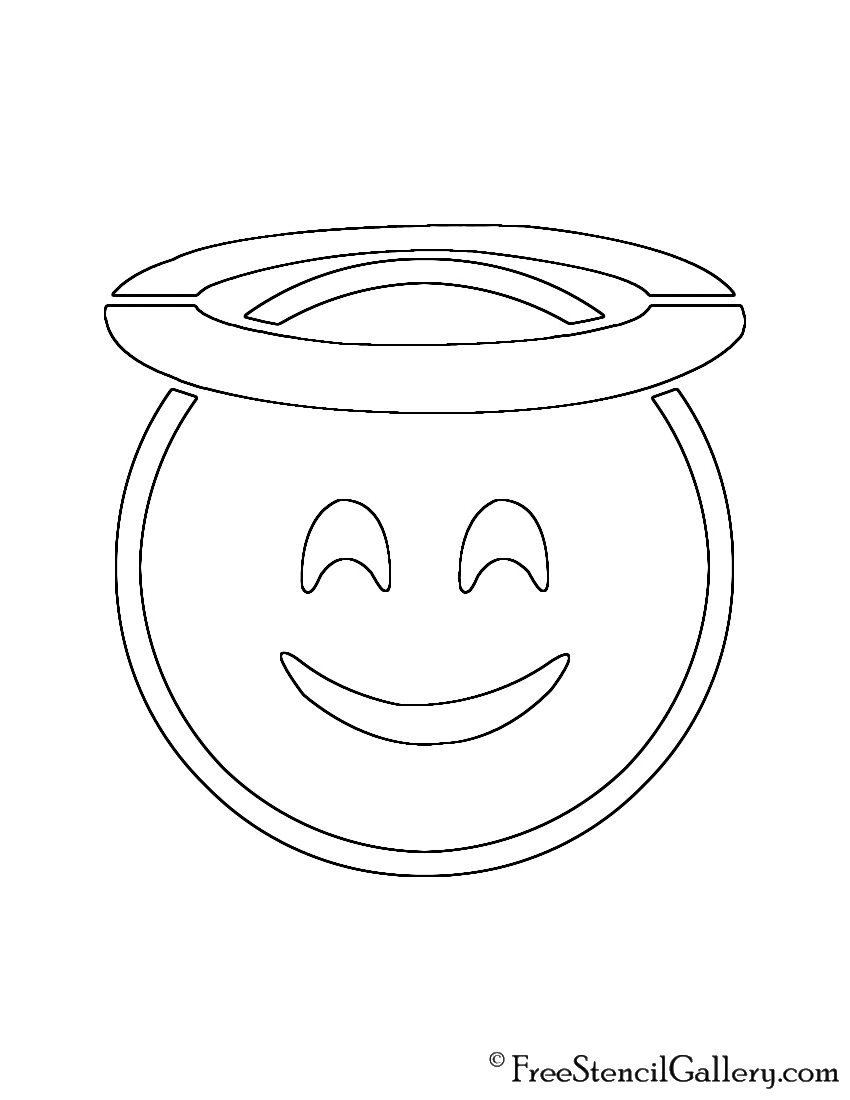 Ambitious image within emoji stencils printable