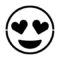 Emoji - Heart Eyes Stencil