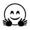 Emoji - Hug Stencil