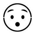 Emoji - Hushed Stencil