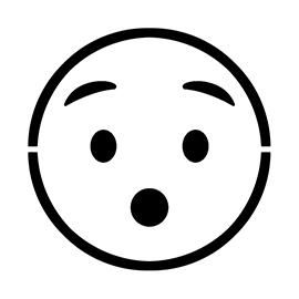Emoji – Hushed Stencil
