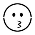 Emoji - Kissing Stencil