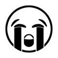 Emoji - Loudly Crying Stencil