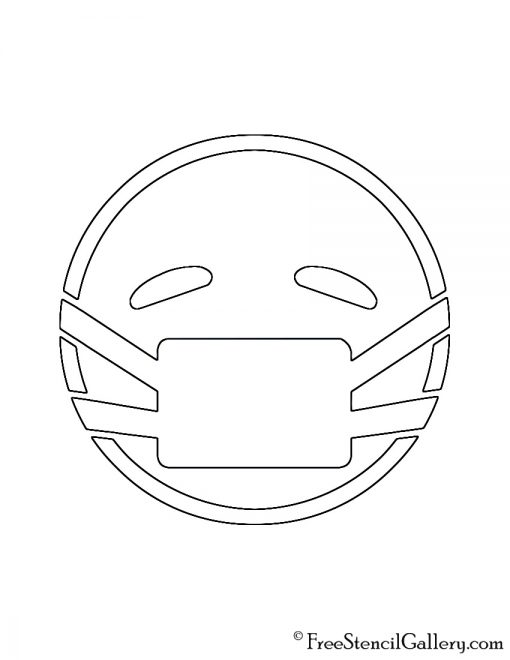 Emoji - Medical Mask Stencil