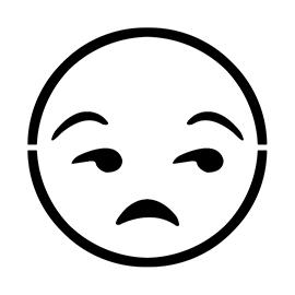 Emoji – Meh Stencil