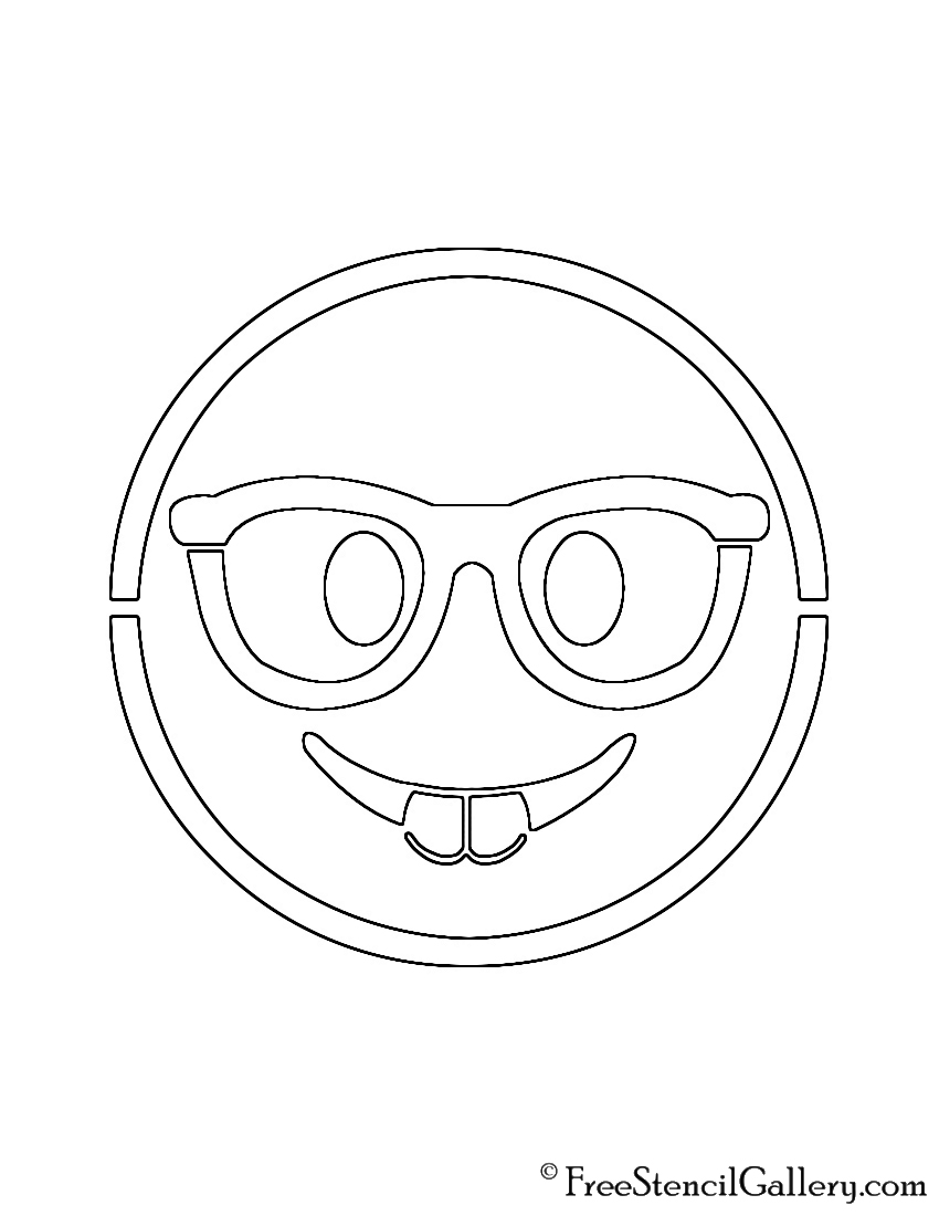 Emoji - Nerd Stencil
