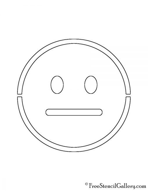 Emoji - Neutral Stencil