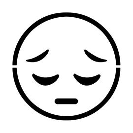 Emoji – Pensive Stencil