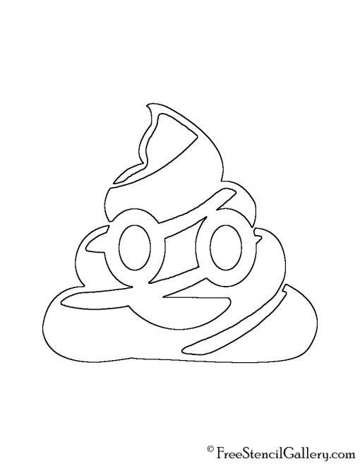 Emoji - Poop 02 Stencil