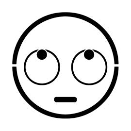 Emoji – Rolling Eyes Stencil
