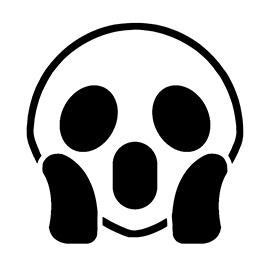 Emoji – Screaming Stencil