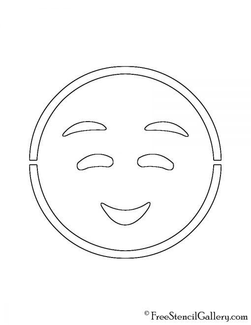 Emoji - Shyly Smiling Stencil