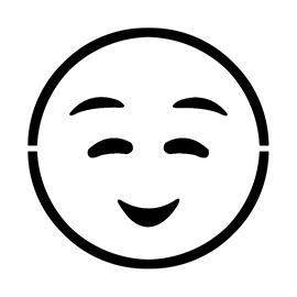 Emoji – Shyly Smiling Stencil