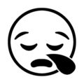Emoji - Sleepy Stencil