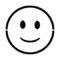 Emoji - Slightly Smiling Stencil