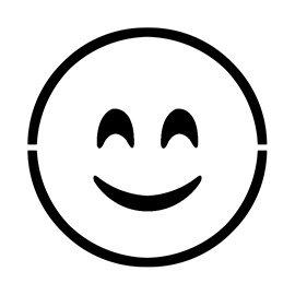 Emoji – Smiling Blushed Stencil